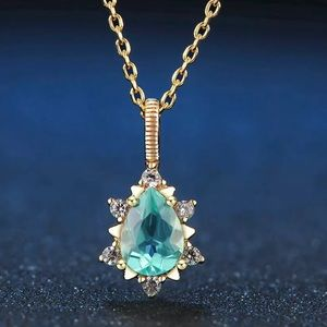 Natural Blue Apatite & Silver Necklace 15001800